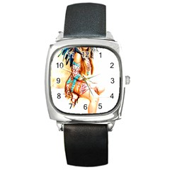 Indian 18 Square Metal Watch by indianwarrior