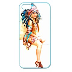 Indian 18 Apple Seamless Iphone 5 Case (color) by indianwarrior