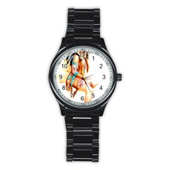 Indian 18 Stainless Steel Round Watch by indianwarrior