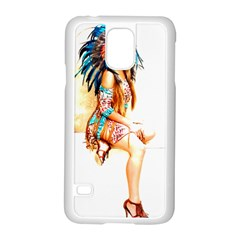 Indian 18 Samsung Galaxy S5 Case (white) by indianwarrior