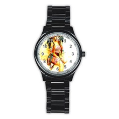 Indian 16 Stainless Steel Round Watch by indianwarrior