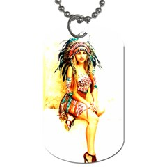 Indian 16 Dog Tag (one Side) by indianwarrior