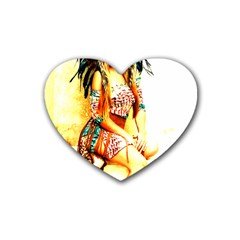 Indian 16 Rubber Coaster (heart)  by indianwarrior