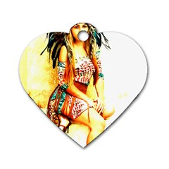 Indian 16 Dog Tag Heart (one Side) by indianwarrior