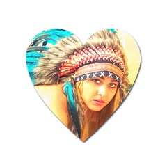 Indian 14 Heart Magnet by indianwarrior