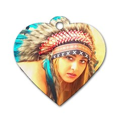 Indian 14 Dog Tag Heart (two Sides) by indianwarrior