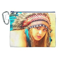 Indian 14 Canvas Cosmetic Bag (xxl)  by indianwarrior