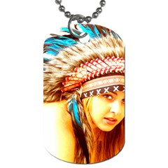 Indian 12 Dog Tag (one Side) by indianwarrior