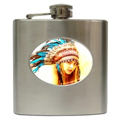 Indian 12 Hip Flask (6 oz) by indianwarrior