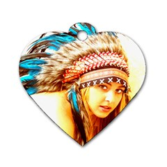 Indian 12 Dog Tag Heart (one Side) by indianwarrior
