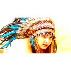 Indian 12 You Are Invited 3d Greeting Card (8x4)  by indianwarrior