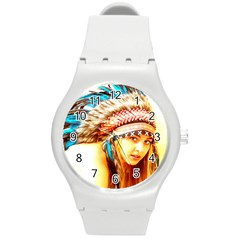 Indian 12 Round Plastic Sport Watch (m) by indianwarrior