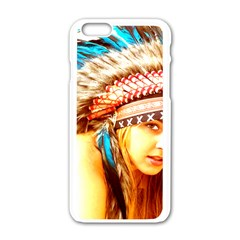 Indian 12 Apple Iphone 6/6s White Enamel Case by indianwarrior