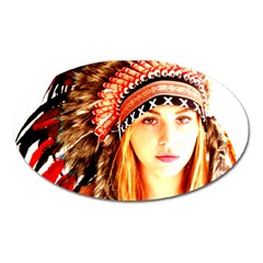 Indian 3 Oval Magnet by indianwarrior