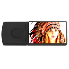Indian 3 USB Flash Drive Rectangular (2 GB)  by indianwarrior