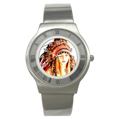 Indian 3 Stainless Steel Watch by indianwarrior
