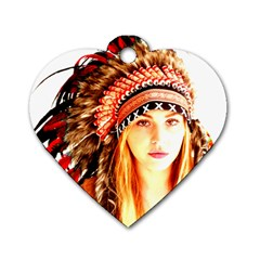 Indian 3 Dog Tag Heart (one Side) by indianwarrior