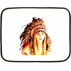 Indian 3 Double Sided Fleece Blanket (mini)  by indianwarrior