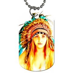 Indian 29 Dog Tag (one Side) by indianwarrior