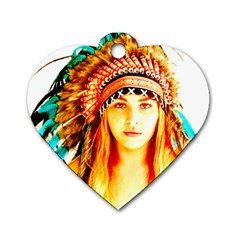Indian 29 Dog Tag Heart (two Sides) by indianwarrior