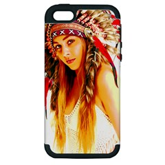 Indian 26 Apple Iphone 5 Hardshell Case (pc+silicone) by indianwarrior