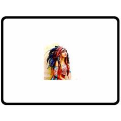 Indian 22 Fleece Blanket (large)  by indianwarrior
