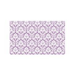 White On Lilac Damask Satin Wrap by Zandiepants