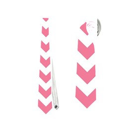 Pink And White Zigzag Neckties (two Side)  by Zandiepants