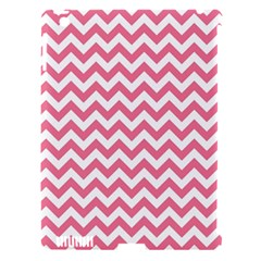 Pink And White Zigzag Apple Ipad 3/4 Hardshell Case (compatible With Smart Cover) by Zandiepants