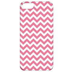 Pink And White Zigzag Apple Iphone 5 Classic Hardshell Case by Zandiepants