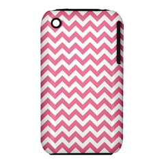 Pink And White Zigzag Apple iPhone 3G/3GS Hardshell Case (PC+Silicone) by Zandiepants