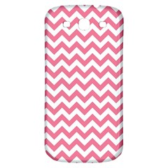 Pink And White Zigzag Samsung Galaxy S3 S Iii Classic Hardshell Back Case by Zandiepants