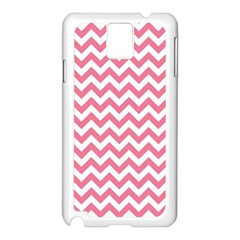 Pink And White Zigzag Samsung Galaxy Note 3 N9005 Case (white) by Zandiepants