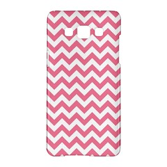 Pink And White Zigzag Samsung Galaxy A5 Hardshell Case  by Zandiepants