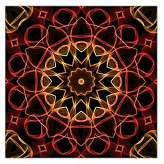 Yellow And Red Mandala Large Satin Scarf (square) by Zandiepants