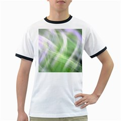 Green And Purple Fog Ringer T Shirts by timelessartoncanvas