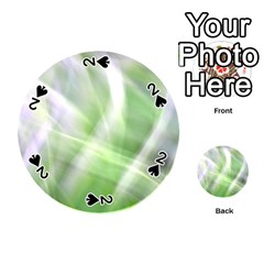 Green And Purple Fog Playing Cards 54 (round)  by timelessartoncanvas
