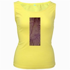 Purple Modern Leaf Women s Yellow Tank Top by timelessartoncanvas