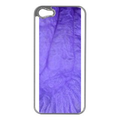 Purple Modern Leaf Apple Iphone 5 Case (silver) by timelessartoncanvas