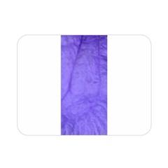 Purple Modern Leaf Double Sided Flano Blanket (mini)  by timelessartoncanvas