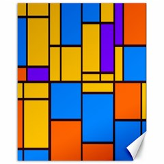 Retro Colors Rectangles And Squares canvas 16  X 20  by LalyLauraFLM