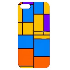 Retro Colors Rectangles And Squares 			apple Iphone 5 Hardshell Case With Stand by LalyLauraFLM