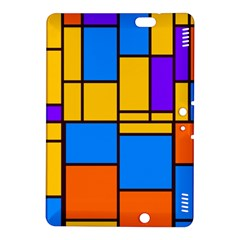 Retro Colors Rectangles And Squares kindle Fire Hdx 8 9  Hardshell Case by LalyLauraFLM