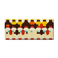 Shapes In Retro Colors hand Towel by LalyLauraFLM