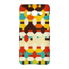 Shapes In Retro Colors samsung Galaxy A5 Hardshell Case by LalyLauraFLM