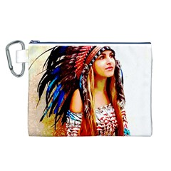 Indian 22 Canvas Cosmetic Bag (L) by indianwarrior