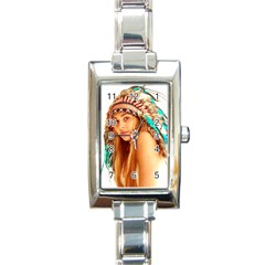Indian 27 Rectangle Italian Charm Watch by indianwarrior