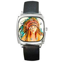 Indian 28 Square Metal Watch by indianwarrior