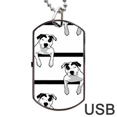 Pit Bull T Bone Graphic  Dog Tag Usb Flash (one Side) by ButThePitBull