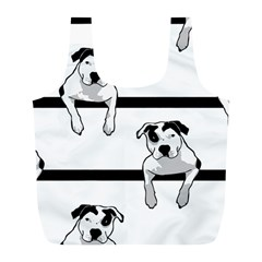Pit Bull T Bone Graphic  Full Print Recycle Bags (l)  by ButThePitBull